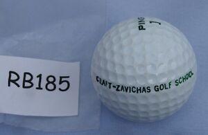 RARE_PING Karsten  White  Golf Ball   Craft-Zavichas Golf School  logo  rb185