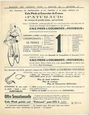 Publicité cyclisme vélo cycling bicyclette bicycle industrie PATURAUD Salon 1949
