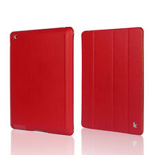 Jisoncase Red High Quality Micro Fiber Case Cover For Apple New iPad 2 and 3rd