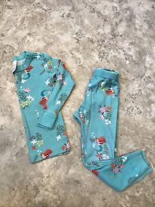 Girls Hanna Andersson Disney Little Mermaid Pajamas 2 Pc Set Mermaids Size 100 4