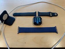 Apple Watch Series 6 GPS, 44MM Space Gray Aluminum Case with Blue Solo Loop Band