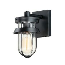Maxim Lighting Breakwater 1-Light Outdoor Wall Sconce, Black - 10265CLBK