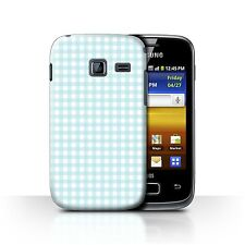Case/Cover for Samsung Galaxy Y Duos/S6102/Winter Fashion/Baby Blue Gingham