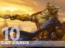 10X Cat Cards (Includes Rares!) MTG Magic -10 Card Lot Collection Deck-