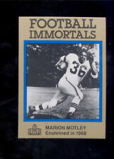 1985 Immortals MARION MOTLEY Cleveland Browns Hall of Fame Card