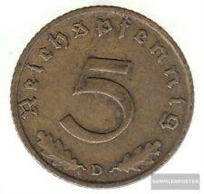 Duits Empire Yearsägernr: 363 1938 Years zeer reeds Aluminium-Brons 1938 5 Reich