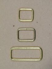 "Keepers - Brass Plated - 5/8"", 3/4"", 1 1/2"" x 1/2"" tall - Pack of 25 (F463)"