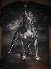 New Men's Pit bull No Trespassing T Shirt Black White Sz M