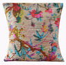 """16"""" HANDMADE HAND QUILTED SQUARE INDIAN SOFA COTTON CUSHION COVER HOME DECOR ART"""