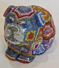 NWT Judith Leiber Swarovski Crystal Pug Dog Minaudiere Evening Bag Clutch