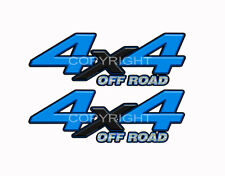 4X4 OFFROAD Black Blue Decals Truck Graphic Laminated Stickers 2pack KM094ORBX
