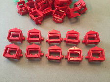 LEGO Red Saddle Lot of 10 w/ 2 clips - Castle Kingdom Knight minifig accessory