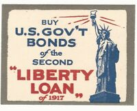 U.S. Government Bonds of the 2nd Liberty Loan, World War I, 1917, Poster Stamp