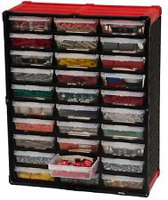 Small Parts Organizer 30 Compartment Plastic Tool Storage Rack Bin Combo Drawer