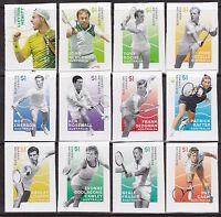 2016 Australian Legends of Singles Tennis - Complete Set of 12 Booklet Stamps