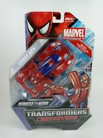 HASBRO - TRANSFORMERS CROSSOVERS MARVEL - RACE CAR TO SPIDER-MAN - NEW