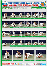 Posters JUDO. Green  belt  1 poster.The technique of judo.KATAME-WAZA 2.