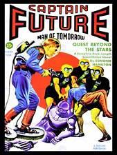 Sci Fi revista capitán futuro Aliens Robot nueva imagen de póster de impresión de arte CC4229