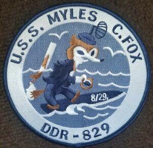 US NAVY Military Patch USS MYLES C. FOX Radar DESTROYER DDR-829