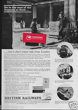 BRITISH RAILWAYS 1963 SIT IN THE SEAT OF THE ROMANS AT BATH CORNISHMAN TRAIN AD