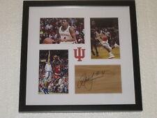 Robert Johnson Signed Floorpiece Framed Indiana Basketball COA Signature