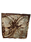 Antique 24x24  Metal Tin Ceiling Tile Vintage Butterfly
