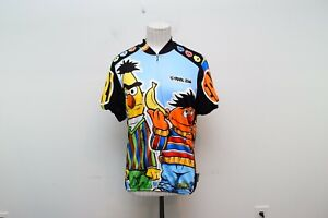 Pearlizumi Small Cycling Jersey Bert Ernie Sesame Street Vintage 3/4 Zip Womens