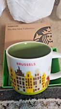 """STARBUCKS ~ Brussels ~ """"You Are Here"""" Icon Mug (NEW) ~14 Oz Belgium NWT"""