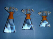 Swarovski Colonna Candleholder-Set of 3, small, medium & large-Very Rare-S-500