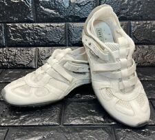 Diesel Footwear Mosley Youth Size US 6.5 White Leather Walking Shoes