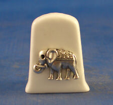 Birchcroft China Thimble ---- Antique Silver Elephant with Free Gift Box