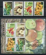 Laos 2010 Früchte Fruits Pflanzen Plants 2170-2173 Block 224 Postfrisch MNH