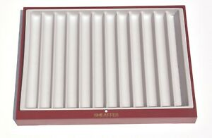 Sheaffer Fountain Pen Display Tray For 12 Pens Red With Soft Grey Linner