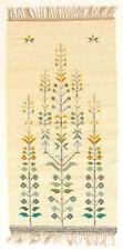 More details for botanical vintage 1970's hand loomed polish folk art wall hanging / rug polish