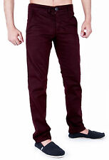New Mens Chinos Stretch Skinny Slim Fit Smart Casual Trousers Jeans All Waist
