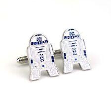 New Star Wars R2 D2 Enamel Novelty Movie Film Cufflinks Suit Gift Bag