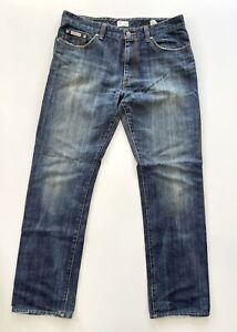 Calvin Klein Womens Semi Boot Cut Jeans Blue Denim W32 L34 (Size 14 AU)