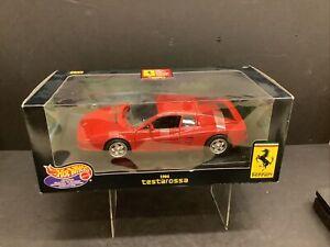MATTEL DL Ferrari Testarossa 1984 Red  1/18 Scale Model Car  Hotwheels MT25732