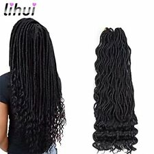 Hair Extension 6Pcs/Lot Curly Faux Locs Crochet Hair Wavy with Ends Goddess
