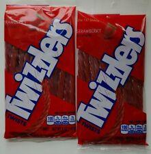 Twizzlers Twists Strawberry Candy Licorice Strawbarry 2 5oz pkgs Free Shipping