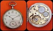 POSTALA WATCH Co.-vintage Pocket Watch-silver 800-mechanical Manual-age1910-rare