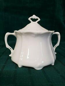 Tirschenreuth/Hutchenreuther Baronesse White Sugar Bowl (NOS)