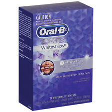 Oral-B 3D White Whitestrips 14 Treatments Strips (Oral B Teeth Whitening Strips)