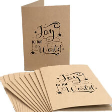 Christmas Cards 100 Recycled Card With Matching Envelopes (pack 10)