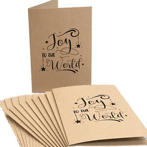 New Christmas Cards 100% Recycled Card with Matching Envelopes (Pack 10)