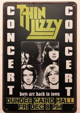 THIN LIZZY Concert Poster Vintage Retro Style METAL SIGN Wall Decor 30x40Cm