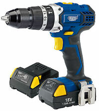 Draper Expert 18v Cordless Combi Hammer Drill With Two Li-ion Batteries | 83685