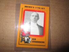 1997 Brown's Boxing BOB FITZSIMMONS PROMO CARD