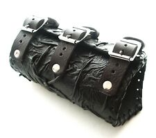 Black Leather Vambrace Gaunlet Cuff Wristband Steampunk Reenactment-Arm Guard