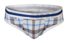 "CROOTA Mens Designer Tartan Underwear Briefs, Low Rise Bikini, XL (Waist 35-37"")"